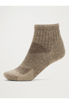 Men's BugsAway Solstice Canyon Quarter Socks, Walnut Brown/Tawny, medium