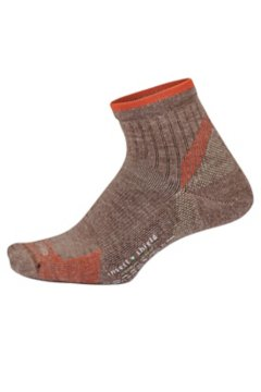 BugsAway Solstice Canyon Quarter Socks, Oatmeal Heather, medium