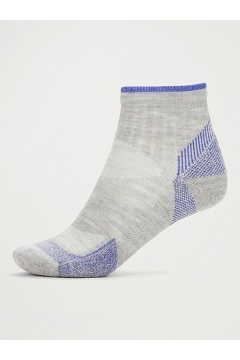 Women's BugsAway Solstice Canyon Quarter Socks, Sleet Heather/Admiral Blue, medium