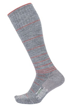 Men's BugsAway Compression Socks, Grey Heather/Retro Red, medium