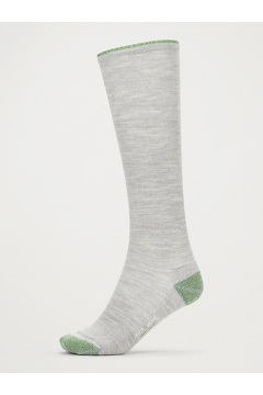 Men's BugsAway Compression Socks, Sleet Heather/Alpine Green, medium