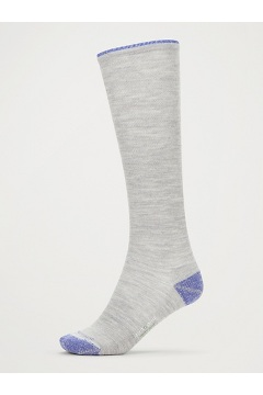 Women's BugsAway Compression Socks, Sleet Heather/Admiral Blue, medium