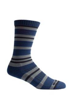 BugsAway Sol Cool Crew Sock, Navy Stripe, medium