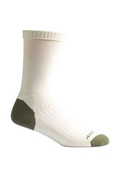BugsAway Sol Cool Crew Sock, Lt Stone, medium