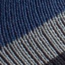 BugsAway Sol Cool Quarter Sock, Navy Stripe, swatch