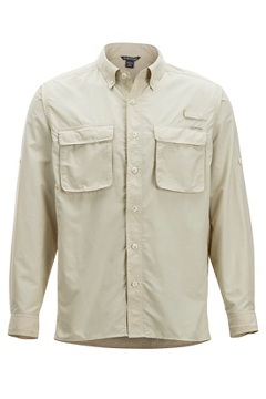 Men's Air Strip Long-Sleeve Shirt, Bone, medium