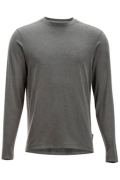 Fraser Crew L/S, Dk Pebble Heather, medium