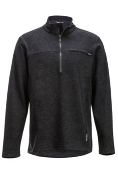 Caminetto 1/4 Zip Neck L/S, Black Heather, medium