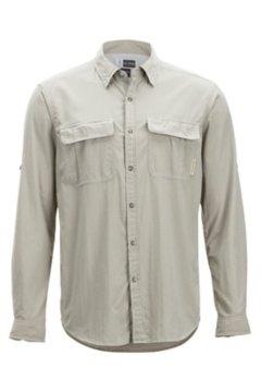 BugsAway Halo Check LS Shirt, Khaki Check, medium