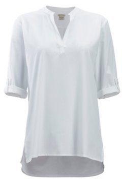 Kizmet 3/4 Sleeve Shirt, White, medium