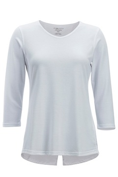Women's Wanderlux 3/4 Sleeve Shirt, White, medium