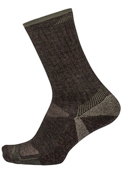 Men's BugsAway Solstice Canyon Crew Socks, Cigar Heather, medium