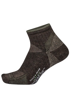 Men's BugsAway Solstice Canyon Quarter Socks, Cigar Heather, medium