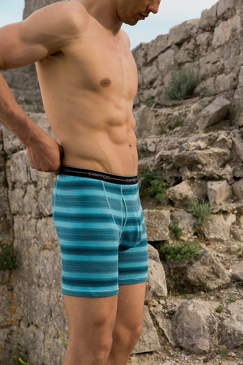 ExOfficio Mens Sol Cool Print Boxer