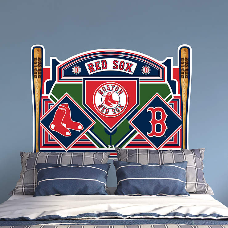 Boston Red Sox Headboard Full Bed Wall Decal Shop