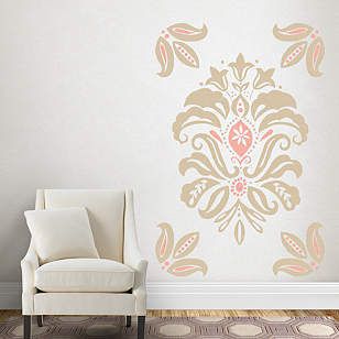 Linen Damask Wall Decal Shop Fathead 174 For Wall Art D 233 Cor