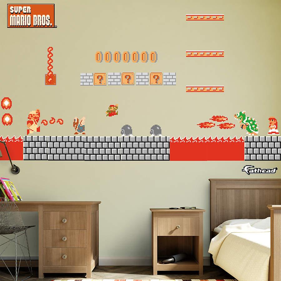 Super Mario Bros Bedroom Decor