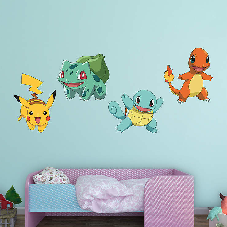 pokemon favorites collection wall decal shop fathead for pok mon decor. Black Bedroom Furniture Sets. Home Design Ideas