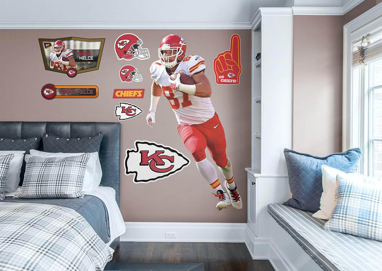 LifeSize Travis Kelce Fathead Wall Decal Shop Kansas City - Sporting kc wall decals