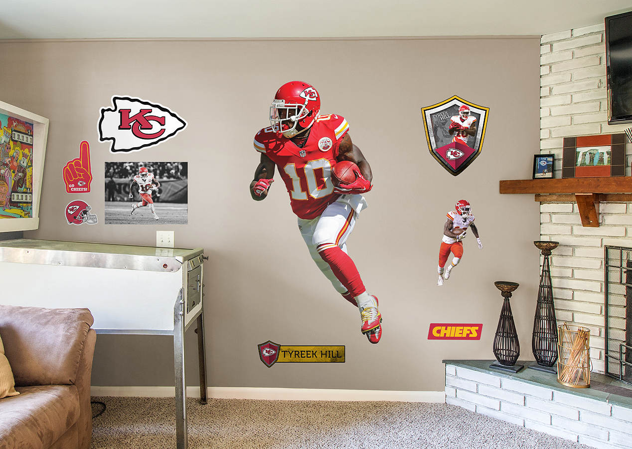 LifeSize Tyreek Hill Fathead Wall Decal Shop Kansas City Chiefs - Sporting kc wall decals