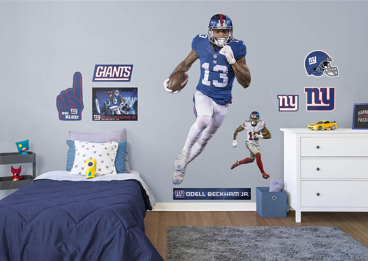LifeSize Odell Beckham Jr Fathead Wall Decal Shop New York - Sporting kc wall decals