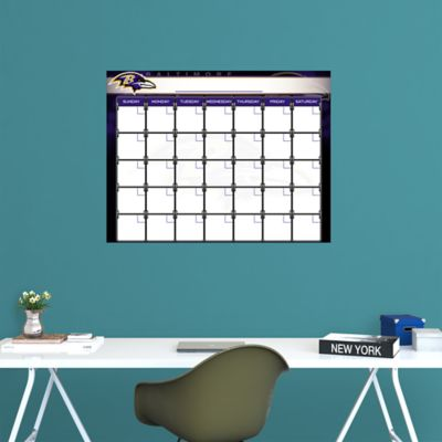 Baltimore Ravens 1 Month Dry Erase Calendar Fathead Wall Decal