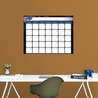 Buffalo Bills 1 Month Dry Erase Calendar Fathead Wall Decal