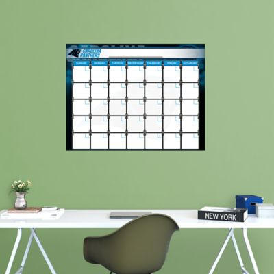 Carolina Panthers 1 Month Dry Erase Calendar