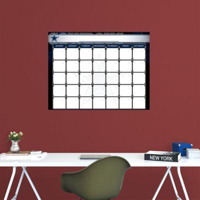 Dallas Cowboys 1 Month Dry Erase Calendar Fathead Wall Decal