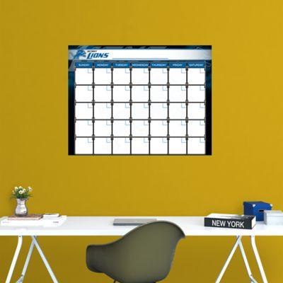 Detroit Lions 1 Month Dry Erase Calendar