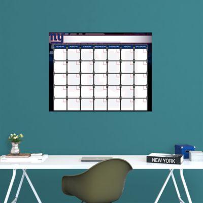 New York Giants 1 Month Dry Erase Calendar Fathead Wall Decal