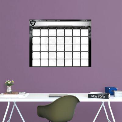 Oakland Raiders 1 Month Dry Erase Calendar