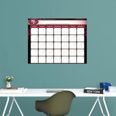 San Francisco 49ers 1 Month Dry Erase Calendar
