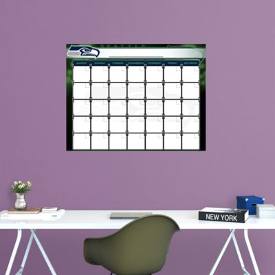 Seattle Seahawks 1 Month Dry Erase Calendar