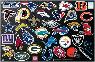 Life Size Athlete Wall Stickers Nfl Logo Collection Wall Decal Shop Fathead 174 For Nfl Decor
