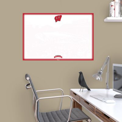 Wisconsin Badgers Dry Erase Board Wall Decal