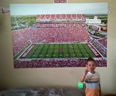 Okalahoma Sooners Football Stadium Fathead fan photo