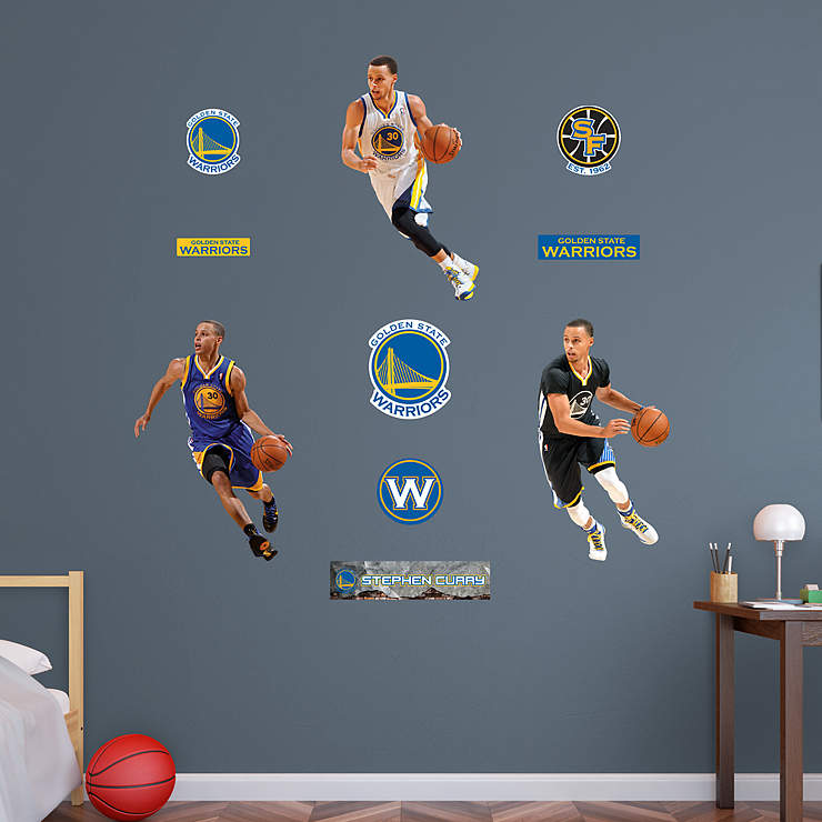 stephen curry hero pack wall decal set  shop fathead® for