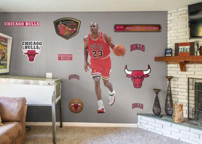 life size michael jordan fathead wall decal shop chicago bulls michael jordan fathead wall decal