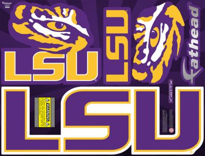 LSU Tigers Street Grip Outdoor Decal