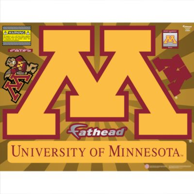 Minnesota Golden Gophers Street Grip Outdoor Decal