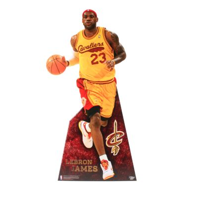 LeBron James Throwback Life-Size Stand Out Freestanding Cut Out