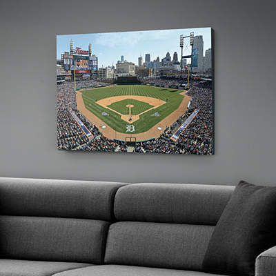 Tiger stadium historic aerial mural wall decal shop for Comerica park wall mural