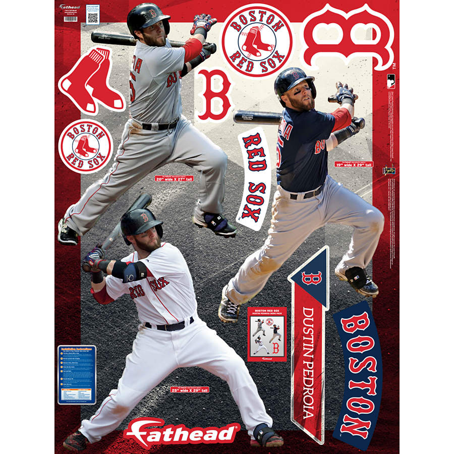 Dustin Pedroia Hero Pack Wall Decal Set | Shop Fathead ...