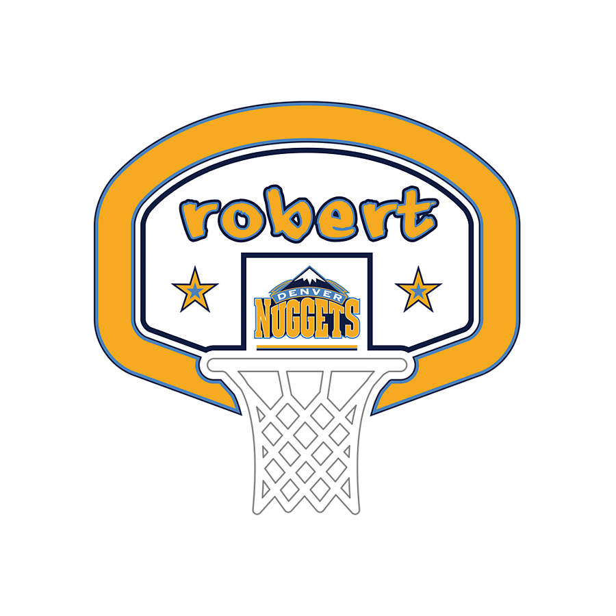 Denver Nuggets Quotes: Denver Nuggets Personalized Name Wall Decal