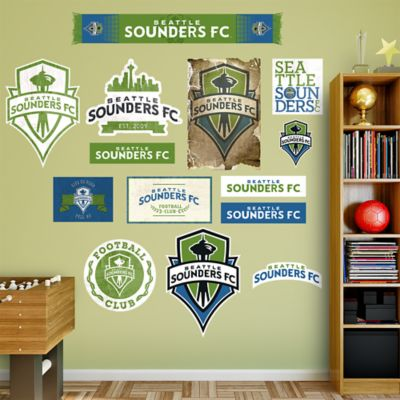 Seattle Sounders Logo Collection Fathead Wall Decal