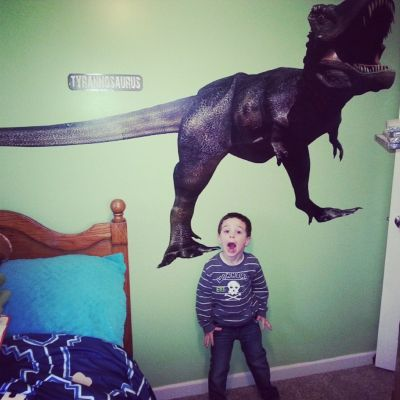 t-rex Fathead fan photo