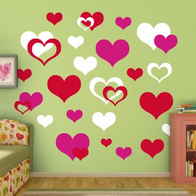 Hearts Fathead Wall Decal