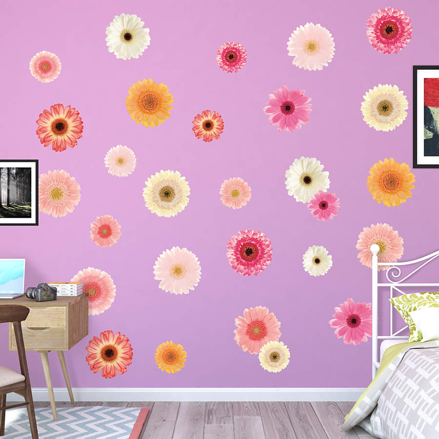 Daisies Pastel Large Removable Wall Decals Wall Decal Shop