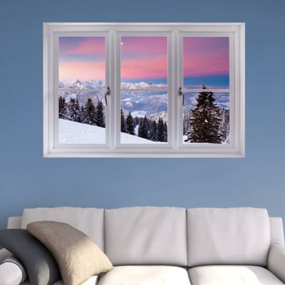 Bavarian Alps Winter Scene: Instant Window